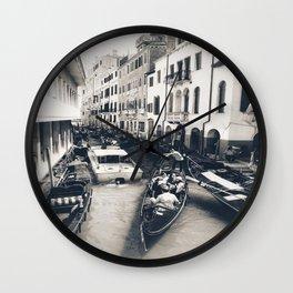 Canal Traffic Wall Clock