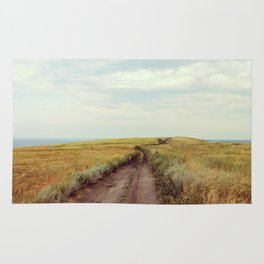 Rustic photography Country road photo Landscape print Nature poster Summer Rug
