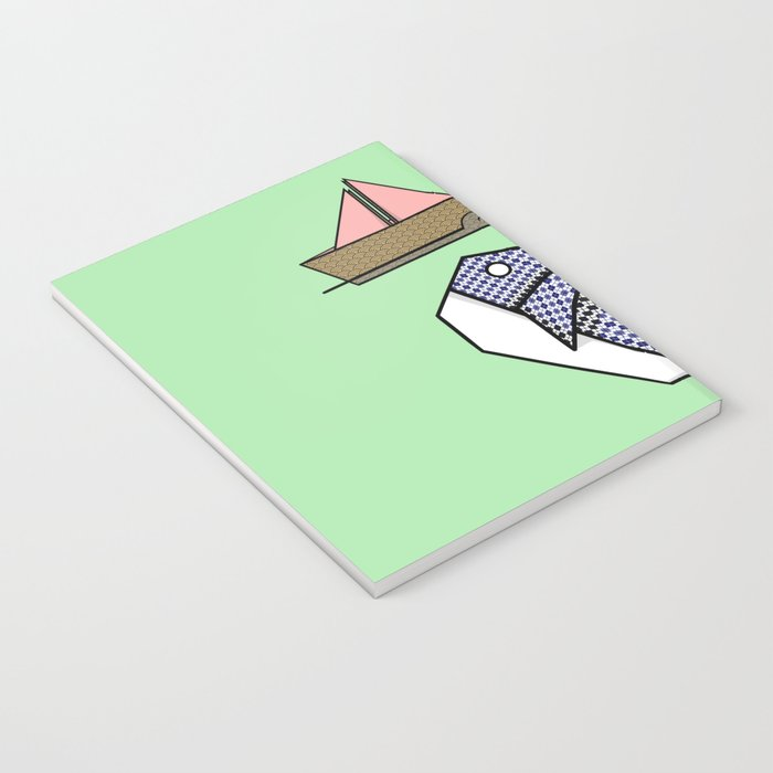 Origami Whale Notebook
