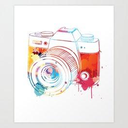 Camera Watercolor Art Print