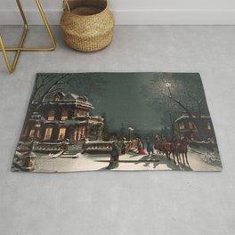 Christmas vintage  illustration Rug