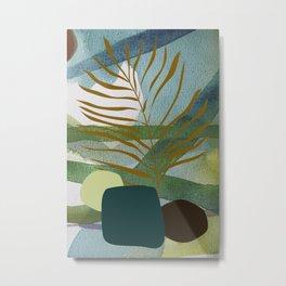 Blue green jungle Metal Print