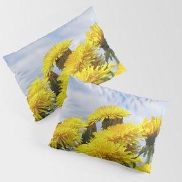 #summer #yellow #Dandelion #meadow Pillow Sham