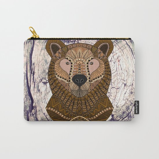 Ornate Brown Bear Carry-All Pouch