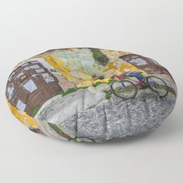 Antigua by bicycle Floor Pillow
