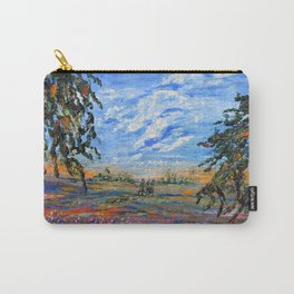 Peach Tree Valley, Impressionism landscape, modern impressionism Carry-All Pouch