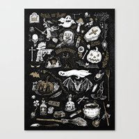 witchcraft Canvas Prints featuring Witchcraft by pakowacz