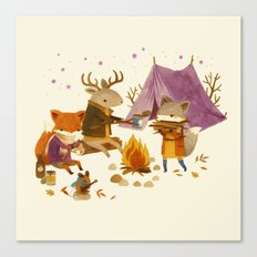 Critters: Fall Camping Canvas Print