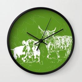 Optimist and pessimist! Wall Clock