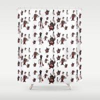 pirates Shower Curtains featuring Pirates by Joe Pugilist Design