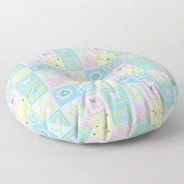 Delicate shades of baby pattern. Floor Pillow