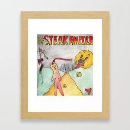 Steak World I Framed Art Print