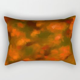 Red, Orange Floral Abstract Rectangular Pillow