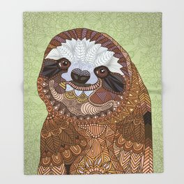 Smiling Sloth Throw Blanket