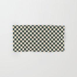 Checkerboard Pattern Inspired By Night Watch PPG1145-7 & Alpaca Wool Cream PPG14-19 Hand & Bath Towel