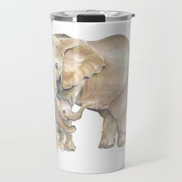 Mother's Love - Elephant Family Travel Mug