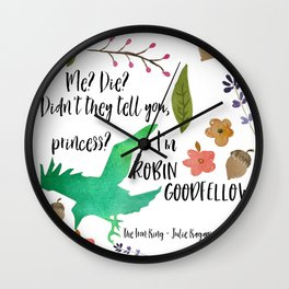 I'm Robin Goodfellow Wall Clock