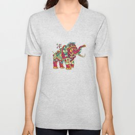 Mammoth, cool wall art for kids and adults alike Unisex V-Neck