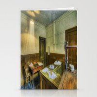the office Stationery Cards featuring Antique Office by Ian Mitchell