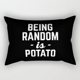 Being Random Funny Quote Rectangular Pillow