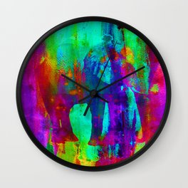 Watercolour Elephant QQ Wall Clock
