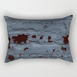 Textured Brick Blue Rectangular Pillow