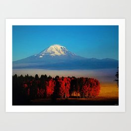 Cascade Mountains Autumn Foliage Landscape by Jeanpaul Ferro Art Print