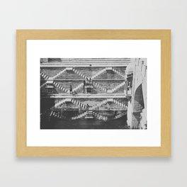 STEPWELL Framed Art Print