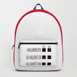 Anti-Halloween, All Hallows' Eve, All Saints' Day Christian Design Backpack