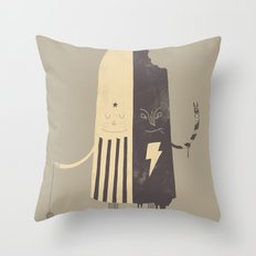 Non-Identical Twins Throw Pillow