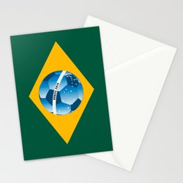 Brazil flag with ball Stationery Cards