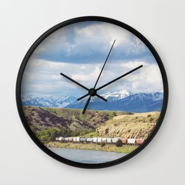 Along the Yellowstone Wall Clock