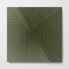 Lines (Olive) Metal Print