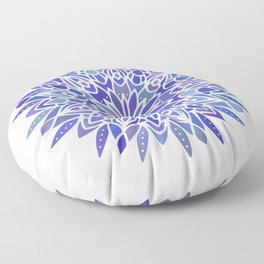 Mandala Vivid Blue Floor Pillow