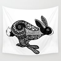 rabbit Wall Tapestries featuring Rabbit by Sophie H.