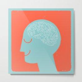 [male] Human Mind Metal Print