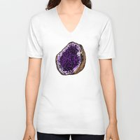 geode V-neck T-shirts featuring Geode by splendidhand