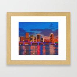 Miami Evening Framed Art Print