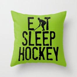 Eat Sleep Hockey Throw Pillow