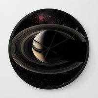 saturn Wall Clocks featuring SATURN by Alexander Pohl