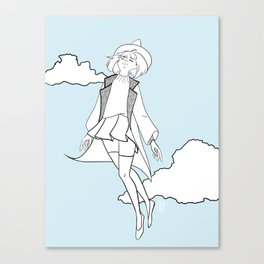 Weightless Witch - Day Canvas Print