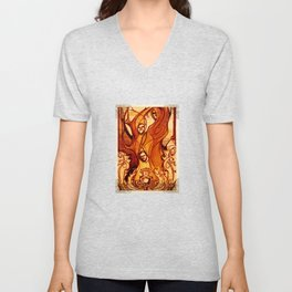 Macbeth Witches - Shakespeare Folio Illustration Art Unisex V-Neck