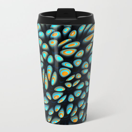 Blue Bloobly Metal Travel Mug