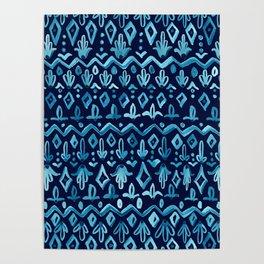 Mya Watercolor - Blue Poster