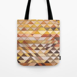 Triangle Pattern Fall Colors Tote Bag
