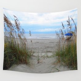 Beach Dreams: Sea Oats by the ocean Wall Tapestry