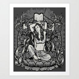 Mexican American Goddess Chicano LA Girl Tribute Art Print