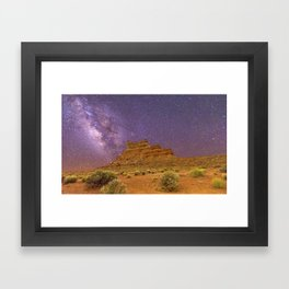 milky Framed Art Print