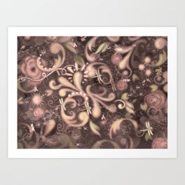 Baroque Dragon fly Art Print