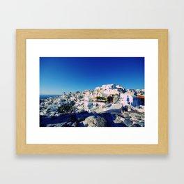 Santorini, Greece Framed Art Print